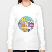 cityscape Long Sleeve T-shirts featuring Cityscape Sketch by EkaterinaP