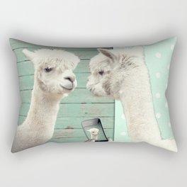 NEVER STOP EXPLORING - SELFIE Rectangular Pillow