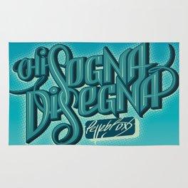 Chi Sogna Disegna - Lettering Rug