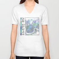 new orleans V-neck T-shirts featuring New Orleans by Catherine Holcombe