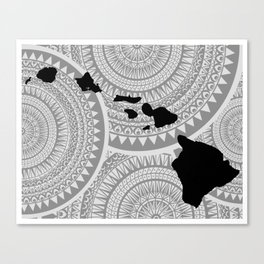 Hawaiian Islands [Tribal Illustration] Canvas Print