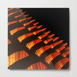 Orange Reptile Scales Metal Print