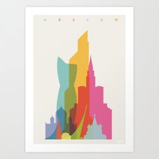 Shapes of Moscow Art Print
