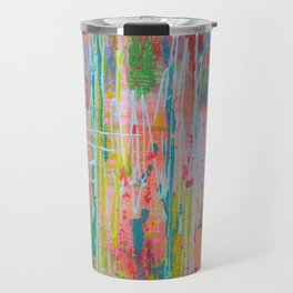 Wildflowers - abstract expressionism prophetic art - contemporary modern art Travel Mug