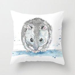 Mini hamster. Throw Pillow