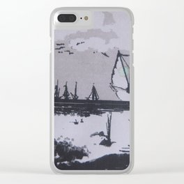 sailing and birds Clear iPhone Case