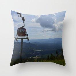 Stowe, Vermont Gondola  Throw Pillow