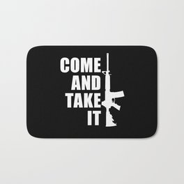 Come and Take it with AR-15 inverse Bath Mat