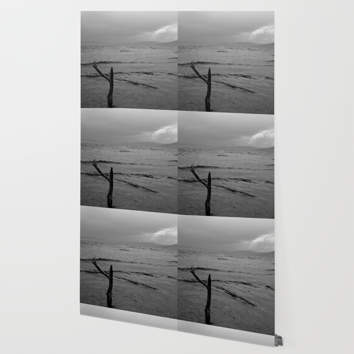 Black And White Minimal Lakescape Wallpaper By Byjwp Society6