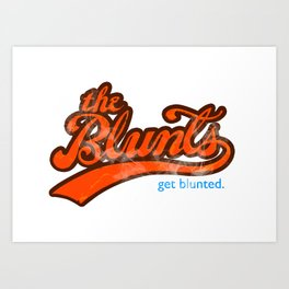 The Blunts Classic Orange Art Print