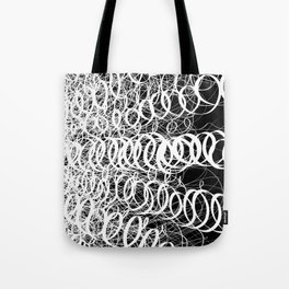 Black Spiral Swirls Reverse Tote Bag