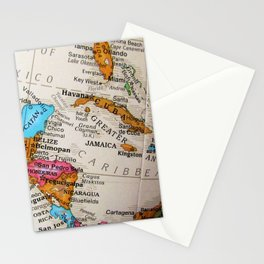 Map Art Stationery Cards