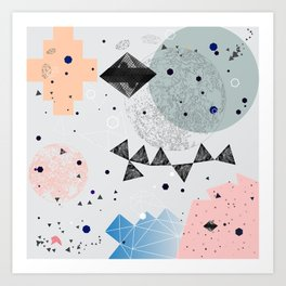 Moon shapes Art Print