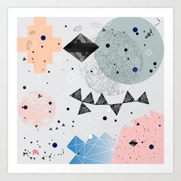 Moon shapes Art Print