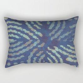 Blue Toned Flower Shibori Tie Dye Rectangular Pillow