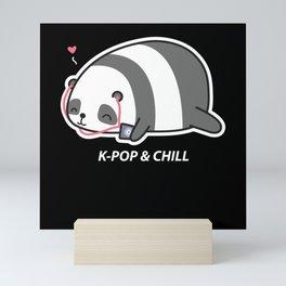 K-Pop And Chill Panda Saranghae Korea Mini Art Print