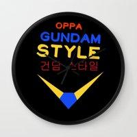 gundam Wall Clocks featuring Gundam Style by Joynisha Sumpter