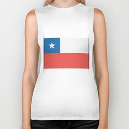 Flag of Chile.  The slit in the paper with shadows. Biker Tank
