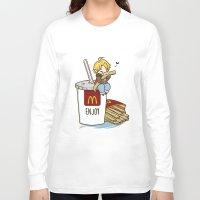hetalia Long Sleeve T-shirts featuring Hetalia - America Loves McDonalds  by BlacksSideshow