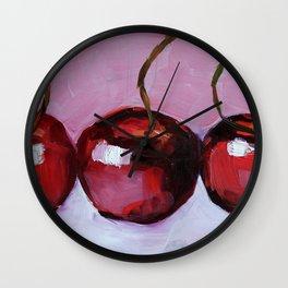 Cherries, cherry, fruit summer Wall Clock