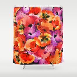 Poppies for Fun Shower Curtain