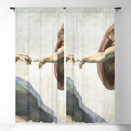 Michelangelo The Creation Of Adam Ultra HD Blackout Curtain