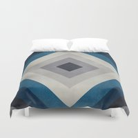 greece Duvet Covers featuring Greece Hues Tunnel 2 by Diego Tirigall