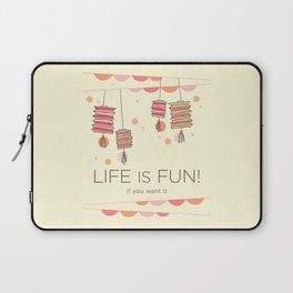 life is fun Laptop Sleeve