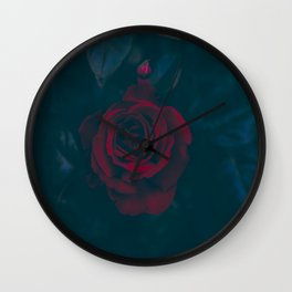 Rose In Darkness Wall Clock