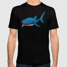 Whale Shark X-LARGE Black Mens Fitted Tee