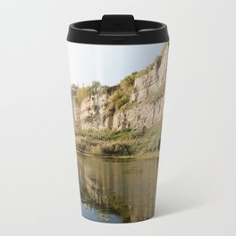 beautful reflection in Torrefumo lake in the bay of Naples Travel Mug