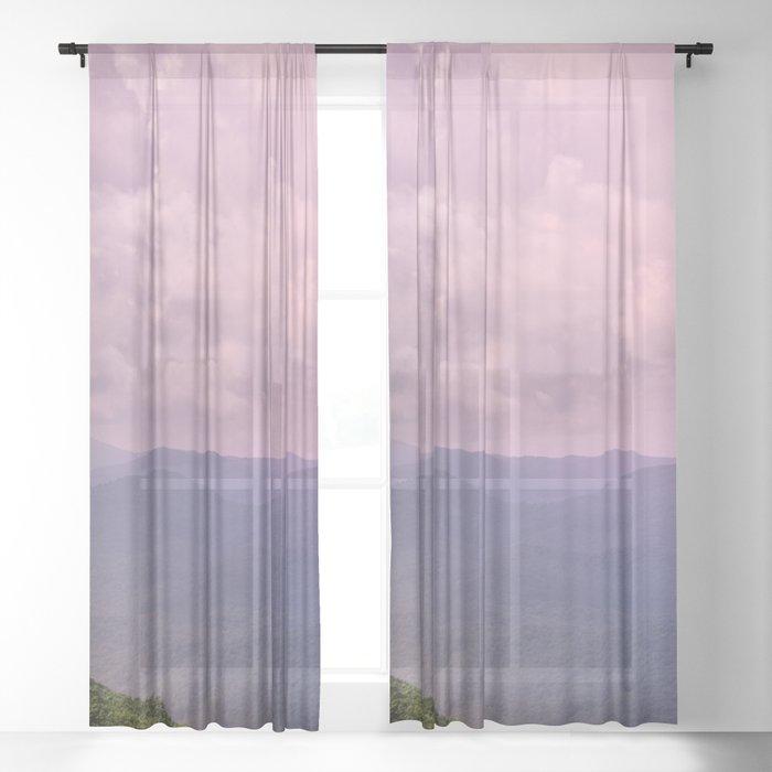 Smoky Mountain National Park -  96/365 Nature Photography Sheer Curtain