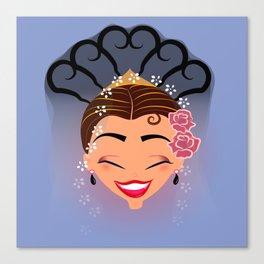 Tuti-Lady Flamenquerías/Character & Art Toy design for fun Canvas Print