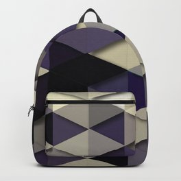 Grey And Purple Dancing Backpack
