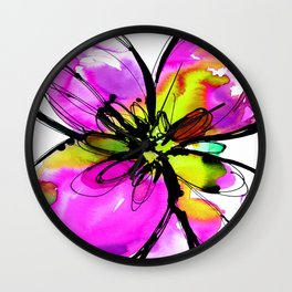 Ecstasy Bloom No.17e by Kathy Morton Stanion Wall Clock