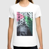 hong kong T-shirts featuring Hong Kong Facade 2 by jennymadeleine
