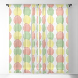 Sweet Marbles Sheer Curtain