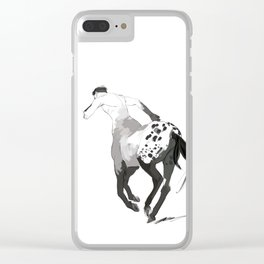 Speckled Centaur Clear iPhone Case