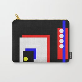Traffic Jam - Abstract, minimalist, geometric, artwork in primary colours and black and white Carry-All Pouch