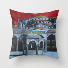 Sultan Ahmed Mosque, Istanbul  Throw Pillow