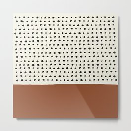 Burnt Orange x Dots Metal Print