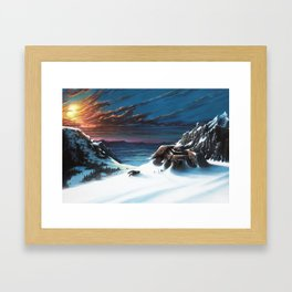 Mountain shelter Framed Art Print