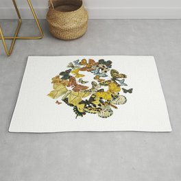 A Kaleidoscope Of Vintage Butterflies Vector Rug