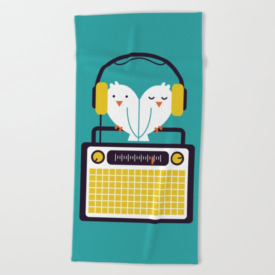 Radio Mode Love Beach Towel