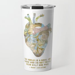 A Traveler's Heart + Quote Travel Mug
