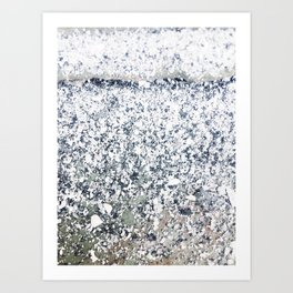 Chalk Dust Confetti Black & White Art Print