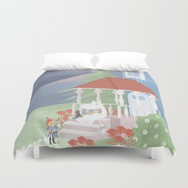 Spring in Moominvalley Duvet Cover