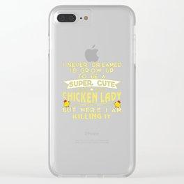 Super cute Chicken lady Clear iPhone Case