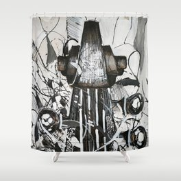 Upright bass Shower Curtain