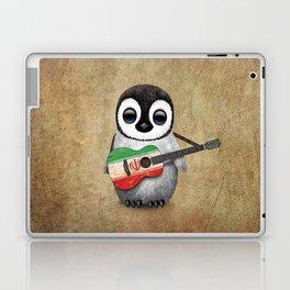 Baby Penguin Playing Iranian Flag Acoustic Guitar Laptop & iPad Skin